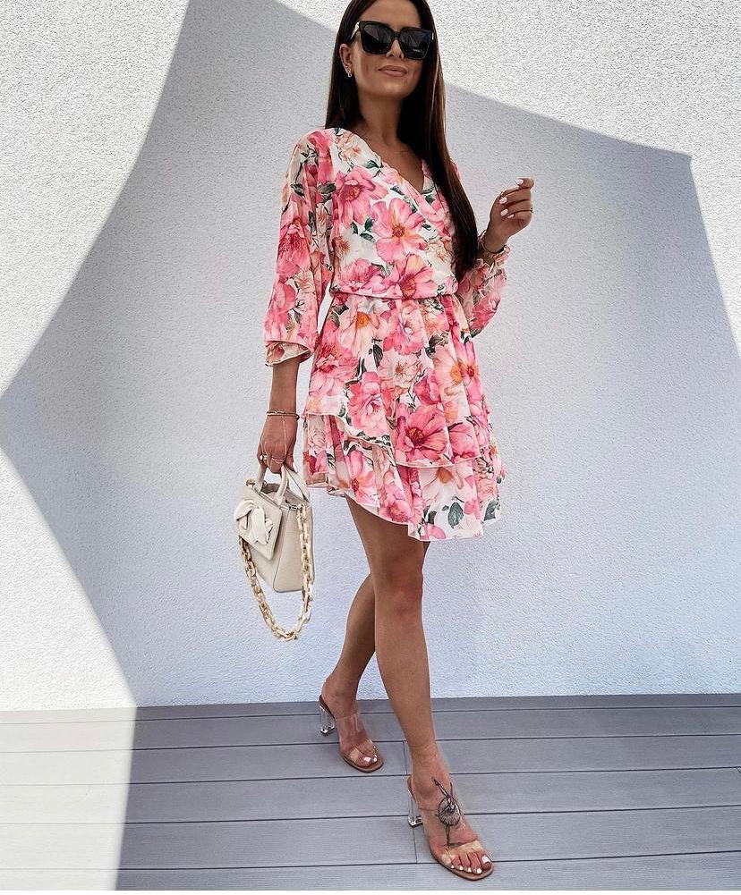 TS Rosy Pink Flower Dress