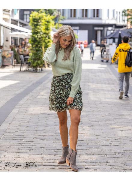 ES Skirt Ruffles Animalprint Green