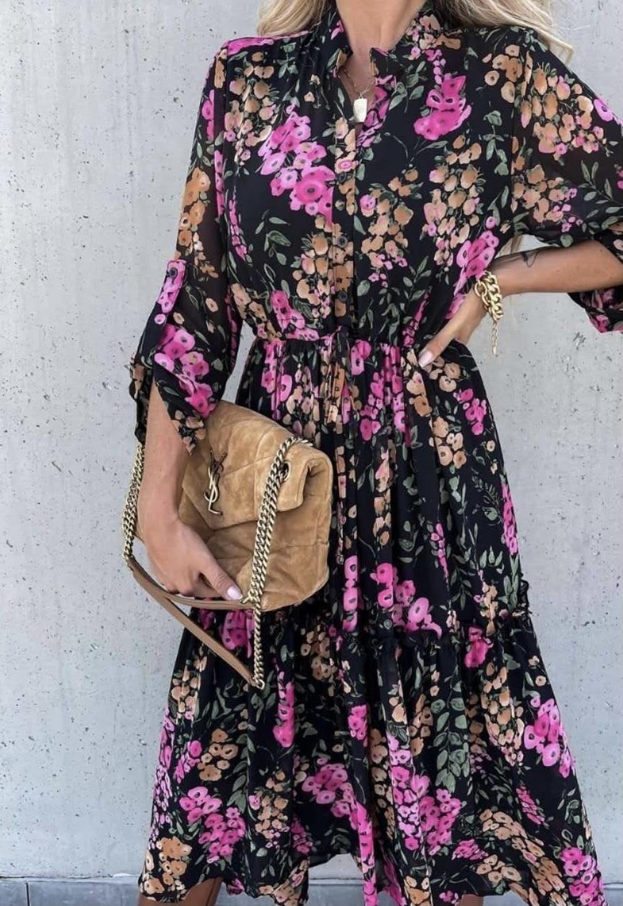 TS Lauranne Dress Blue/Fuchsia