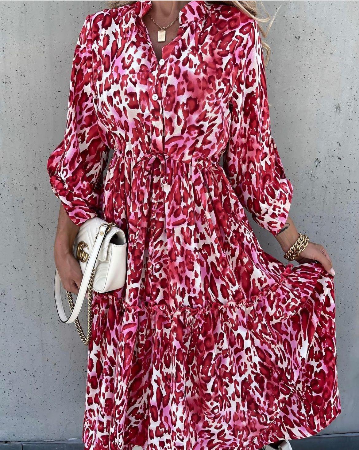 TS Juline Dress Pink/Red