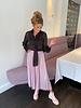 YENTLK Plissé Skirt Glitter Lighter Pink
