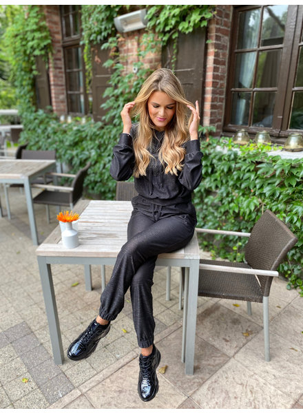 YENTLK Suit Capuchon Black Glitter