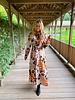 YENTLK Chemisier Dress Animal Print