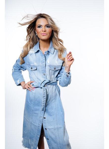 YENTLK Nicole Destroyed Long Jacket/Dress