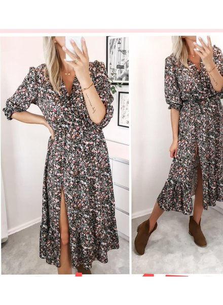 TS Eleisa Dress Black/Pink