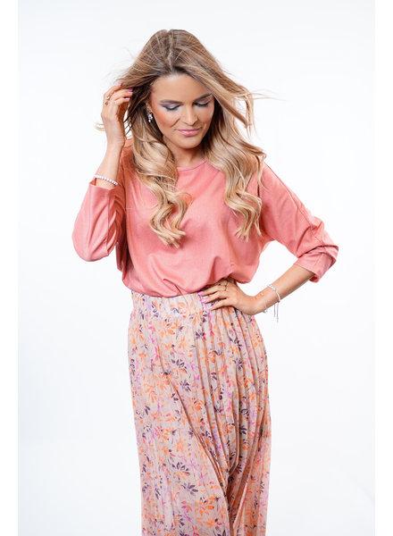 YENTLK Plissé Skirt Lilac/Fuchsia/Taupe