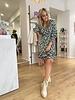 Dress Ava Green/White