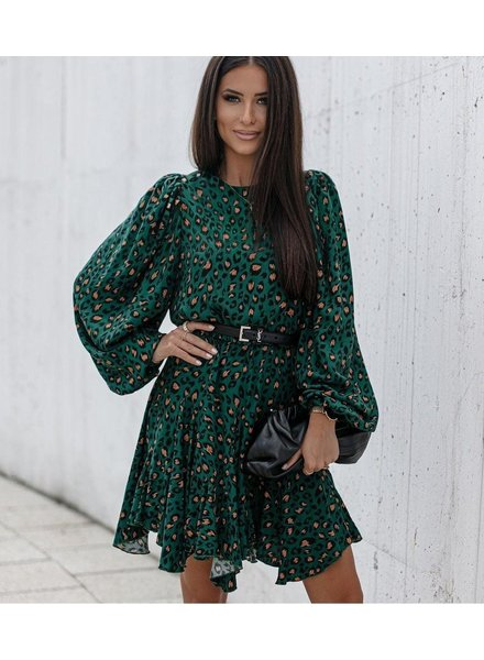 TS Lima Leopard Dress Green