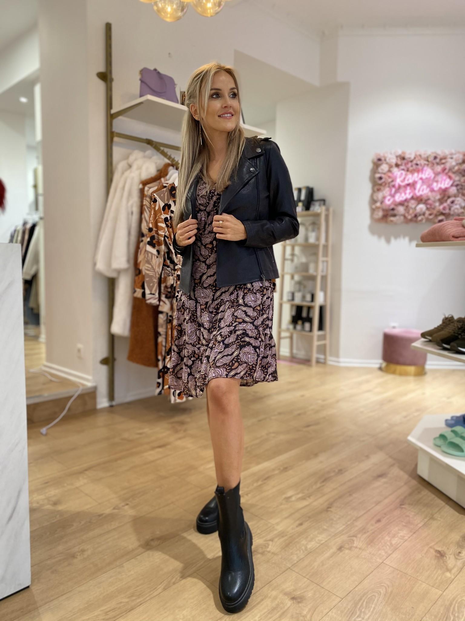 ES Paisley Smock Dress Purple