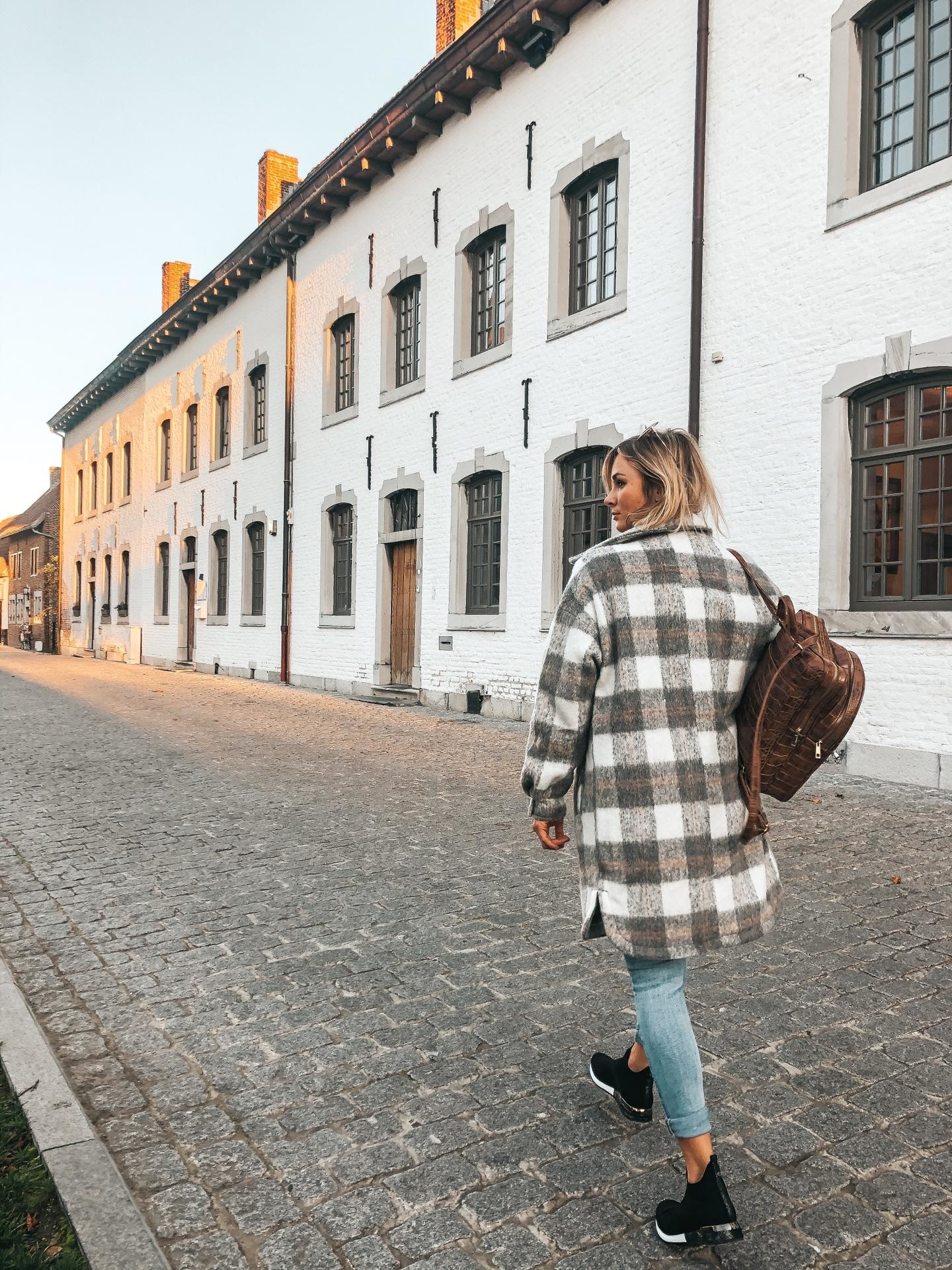 ML Checkered Coat Grey/Beige