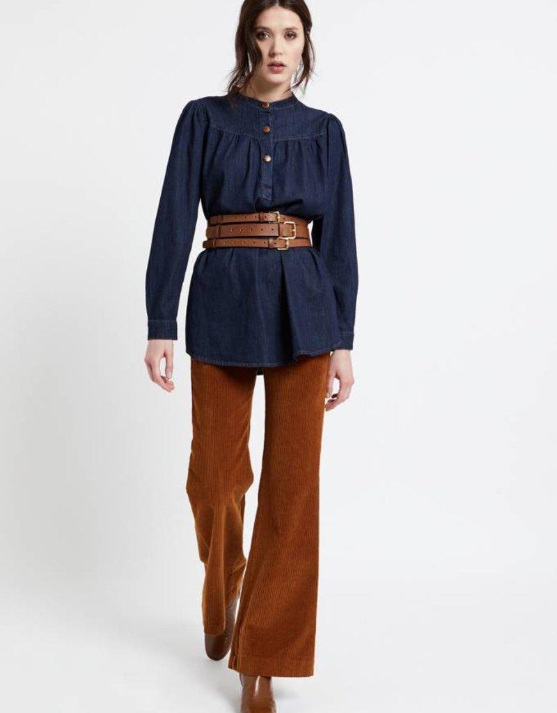 Ottod'Ame Velvet flare trousers