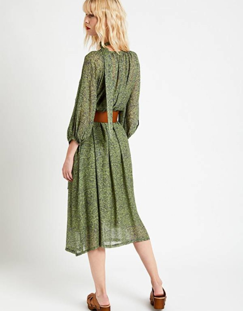Ottod'Ame Long printed dress - mint