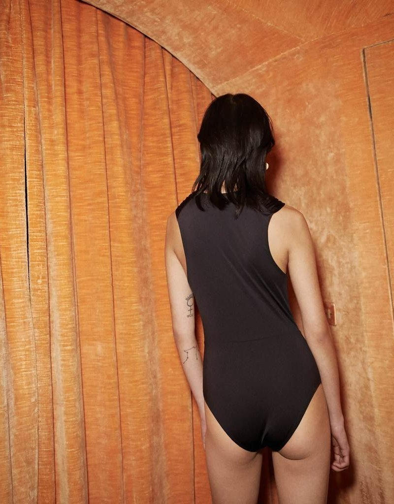 Nanushka Swimsuit with knotted detail - Black