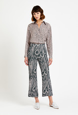 Ottod'Ame Cropped patterned trousers with wide bottom