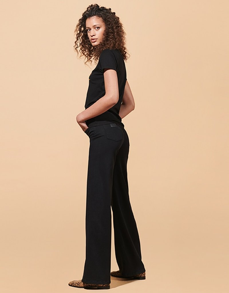 Lois Wide palazzo jeans Judith Gloom black