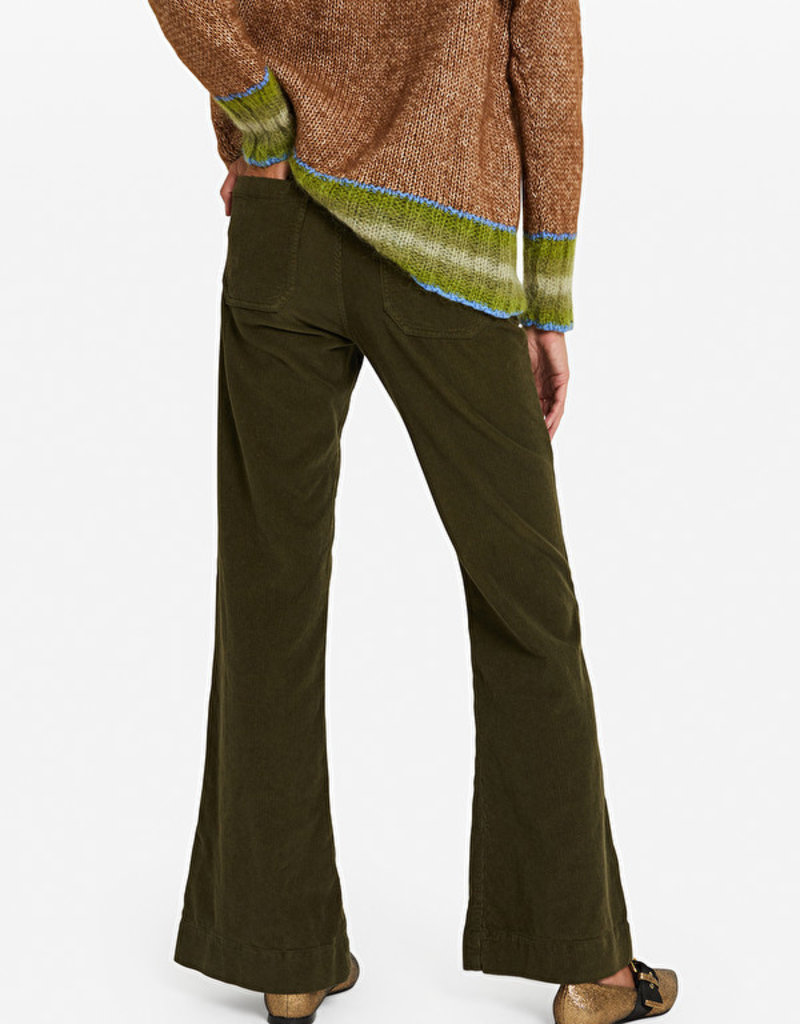 Ottod'Ame Pantalone french pocket in corduroy kaki