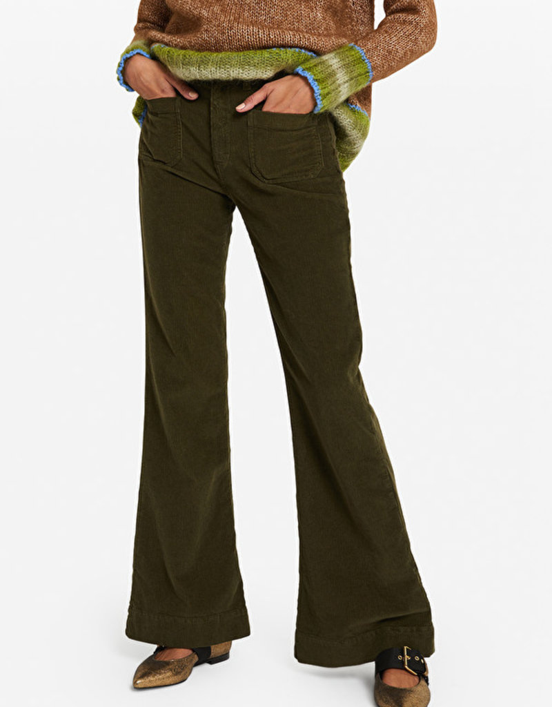 Ottod'Ame Pantalone french pocket in corduroy sand