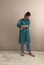 Wright Aqua green cotton tunic
