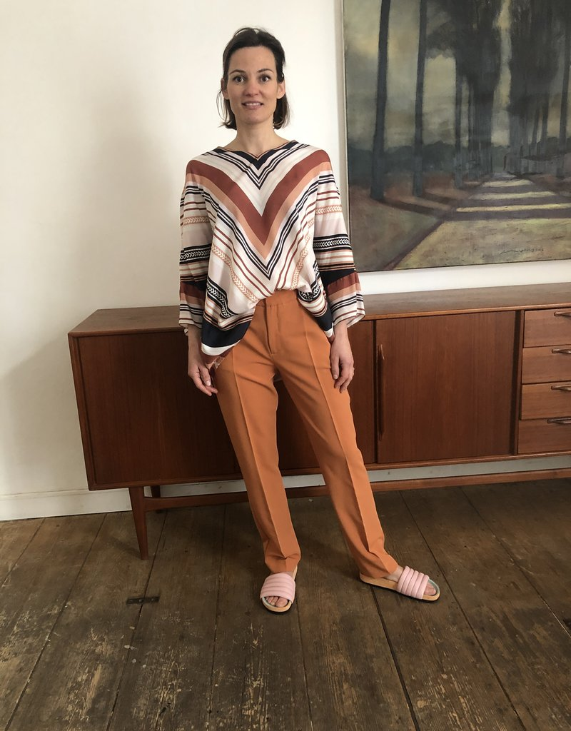 Wright Terracotta chino trousers