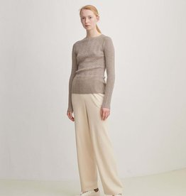 fub Knitted trousers cream