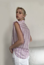 Tela Striped blouse with shoulder accents