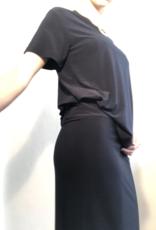 Norma Kamali boxy shirt dark blue