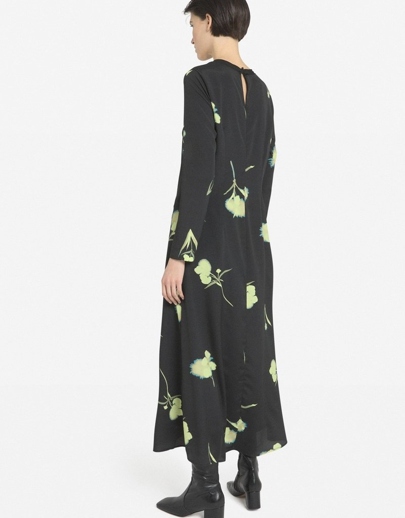 Ottod'Ame dress flower black da4412