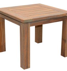 """NEW VINTAGE TEAK SIDE TABLE 23.5""""x24""""x22"""""""
