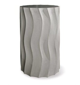 """Perpetual Wave Tall Accent Table Slate Gray 15""""Dx25""""H"""