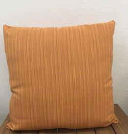 "Gotcha Covered Ribbed Burnt Orange Sunbrella 19"" Pillow"