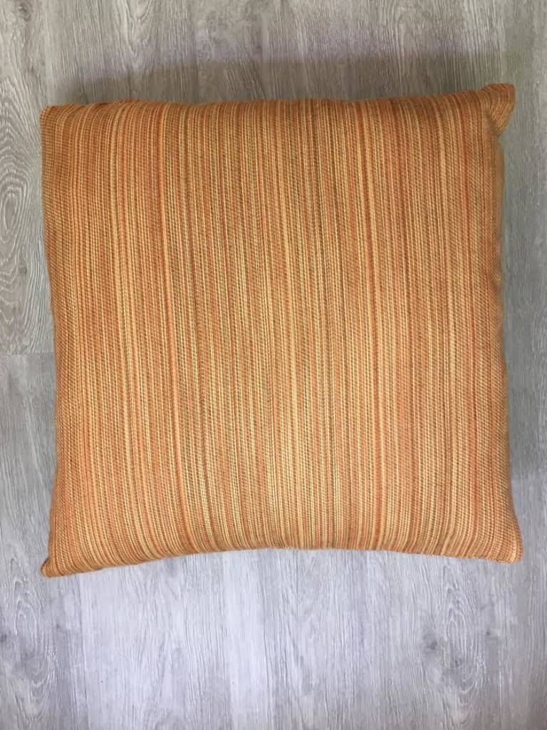 "Gotcha Covered Multi Ribbed Orange Sunbrella 16"" Pillow"