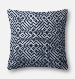 """Loloi P0499 IN/OUT Navy/White 22""""x22"""""""