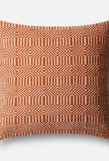 """Loloi P0339 IN/OUT Orange/Ivory 22""""x22"""""""