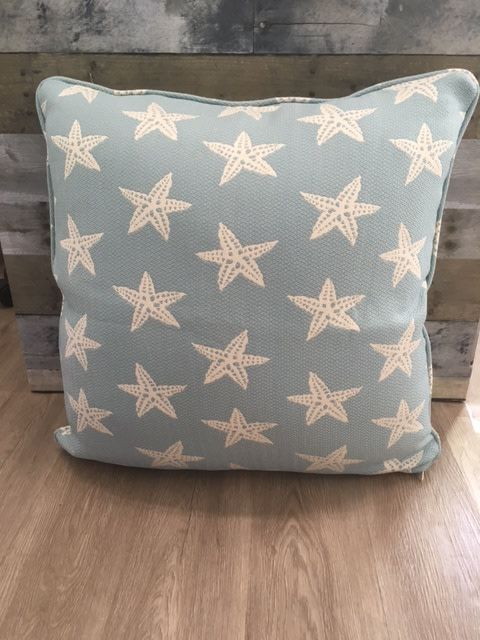 "Gotcha Covered Star Fish Light Blue 22"" Pillow"