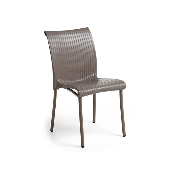 Nardi Regina Chair - Tortora/ Argento Leg