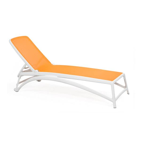 Nardi Atlantico Chaise Lounge - Bianco/Mandarino