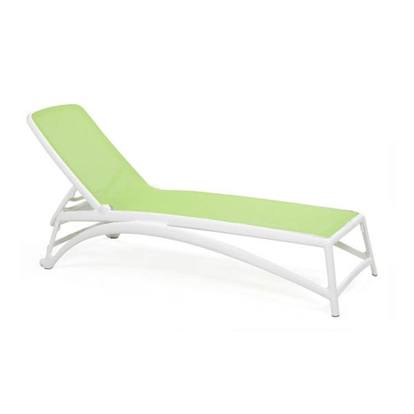 Nardi Atlantico Chaise Lounge - Bianco/Prato