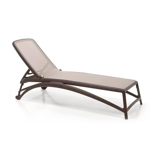 Nardi Atlantico Chaise Lounge - Caffe/Tortora
