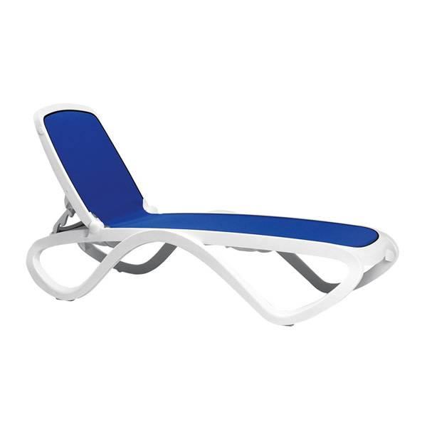 Nardi Omega Chaise Lounge - Bianco/Blue