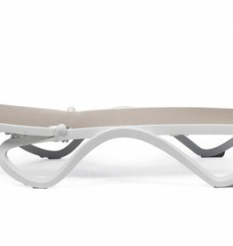 Nardi Omega Chaise Lounge - Bianco/Tortora