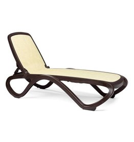 Nardi Omega Chaise Lounge - Caffe/Straw
