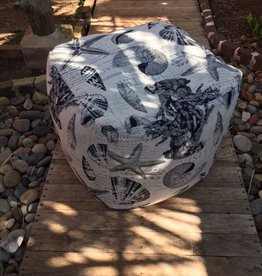 Gotcha Covered Starfish & Shell Large Pouf