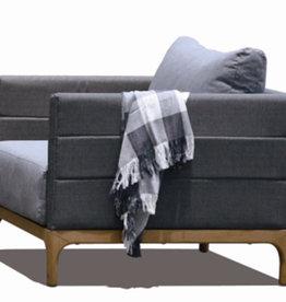 "Lounge Factory DOMINO CLUB STONE GREY 29x35x27"""