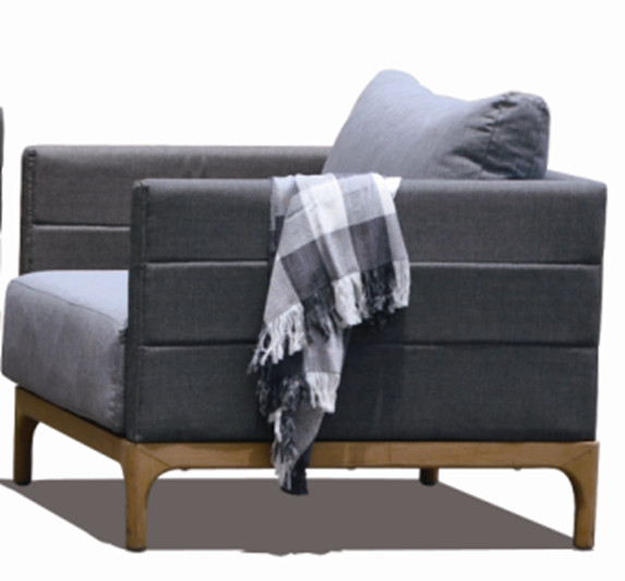 Lounge Factory DOMINO CLUB STONE GREY 29x35x27""