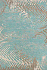 "Couristan Monaco Tropical Palms - Aqua 5'10""X9'2"
