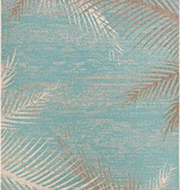 """Couristan Monaco Tropical Palms Aqua 5'10""""X9'2"""