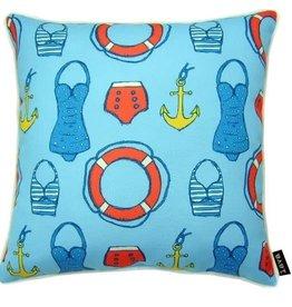 """Lava Pillows Sailor Swim 18"""" Pillow"""