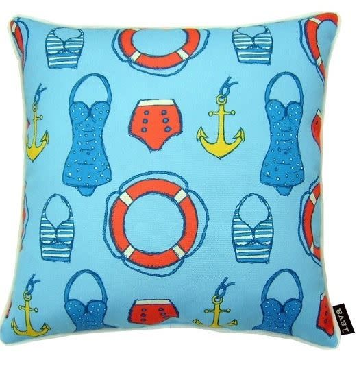 "Lava Pillows Sailor Swim 18"" Pillow"