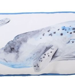 "Lava Pillows Whale 11""x24"" Pillow"
