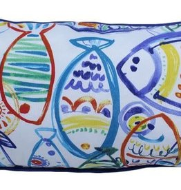 "Lava Pillows Carribean Fish 12""x24"" Pillow"